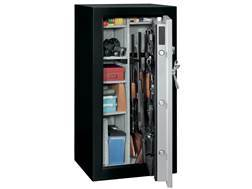 Stack-On Total Defense Fire-Resistant 28-Gun Safe Matte Black and Silver with Door Storage