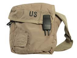Miltary Surplus New Condition 2 quart Canteen Cover with Strap Desert Tan
