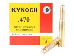 Kynoch Ammunition 470 Nitro Express 500 Grain Woodleigh Weldcore Solid Box of 5