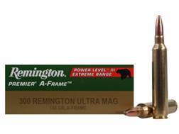 Remington Premier Ammunition 300 Remington Ultra Magnum 180 Grain Swift A-Frame Pointed Soft Point Box of 20