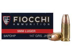 Fiocchi Shooting Dynamics Ammunition 9mm Luger 147 Grain Jacketed Hollow Point Box of 50