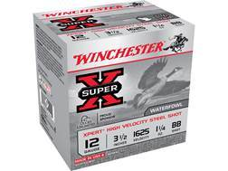 "Winchester Xpert High Velocity Ammunition 12 Gauge 3-1/2"" 1-1/4 oz BB Non-Toxic Steel Shot Box of 25"