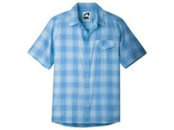 Mountain Khakis Men's Shoreline Shirt Short Sleeve Cotton Ripstop Blue Note Multi Medium 39-41