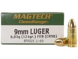 Magtech Clean Range Ammunition 9mm Luger 124 Grain Encapsulated