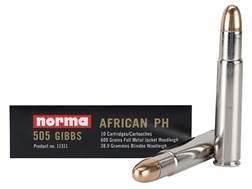 Norma African PH Ammunition 505 Gibbs Magnum 600 Grain Woodleigh Full Metal Jacket Box of 10