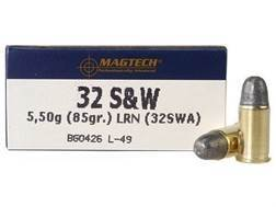 Magtech Sport Ammunition 32 S&W 85 Grain Lead Round Nose