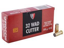 Fiocchi Shooting Dynamics Ammunition 32 S&W Long 100 Grain Lead Wadcutter Box of 50