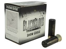 "Federal Premium Black Cloud Snow Goose Ammunition 12 Gauge 3"" 1-1/8 oz BB Non-Toxic FlightStopper Steel Shot"