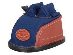 Edgewood Original Rear Shooting Rest Bag Tall with Short Ears and Regular Stitch Width Leather and Nylon Navy Blue Unfilled