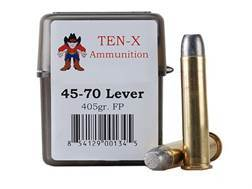Ten-X Cowboy Ammunition 45-70 Government Lever Action 405 Grain Flat Point Box of 20