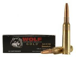 Wolf Gold Ammunition 6.5x55mm Swedish Mauser 139 Grain Full Metal Jacket Box of 20