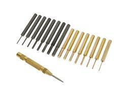 Bald Eagle Gunsmith's Master Punch Set 17-Piece Brass and Steel