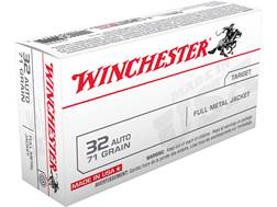 Winchester USA Ammunition 32 ACP 71 Grain Full Metal Jacket