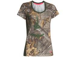 Under Armour Women's Tech Camo Short Sleeve T-Shirt Polyester Realtree Xtra