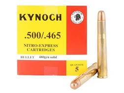 Kynoch Ammunition 500-465 Nitro Express 480 Grain Woodleigh Welded Core Solid Box of 5