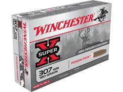 Winchester Super-X Ammunition 307 Winchester 180 Grain Power-Point Box of 20
