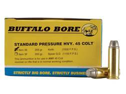 Buffalo Bore Ammunition 45 Colt (Long Colt) 255 Grain Lead Keith-Type Semi-Wadcutter Gas Check Box of 20