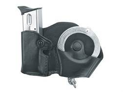 Gould & Goodrich B841 Belt Hand Cuff and Magazine Carrier Right Hand 1911 Government, Kahr Micro MK9, Elite MK9, MK40, Covert 40, E9, K9, P9, K40, P40, Sig Sauer P230, P232, Walther PPK Leather Blac