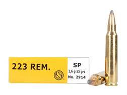Sellier & Bellot Ammunition 223 Remington 55 Grain Soft Point Box of 20