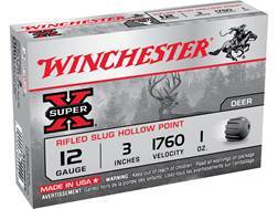 "Winchester Super-X Ammunition 12 Gauge 3"" 1 oz Rifled Slug"