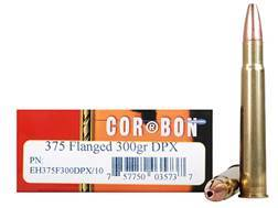 Cor-Bon Expedition DPX Hunter Ammunition 375 Flanged Magnum 300 Grain DPX Hollow Point Box of 10