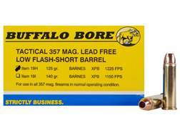 Buffalo Bore Ammunition 357 Magnum Short Barrel 125 Grain Barnes TAC-XP Hollow Point Low Flash Lead-Free Box of 20