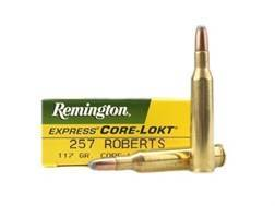 Remington Express Ammunition 257 Roberts 117 Grain Soft Point Core-Lokt Box of 20