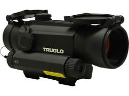 TRUGLO Tru Tec Red Dot Sight with Integrated Green Laser 30MM 1x 2 MOA Reticle Picatinny Style Mount Matte