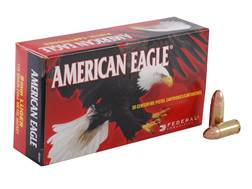 Federal American Eagle Ammunition 9mm Luger 115 Grain Full Metal Jacket Box of 50