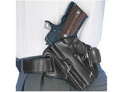 Galco Concealable Belt Holster Left Hand 1911 Officer Leather Black