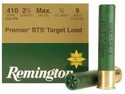 """Remington Premier STS Target Ammunition 410 Bore 2-1/2"""" 1/2 oz #9 Shot Box of 25"""