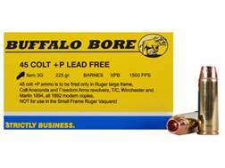 Buffalo Bore Ammunition 45 Colt (Long Colt) +P 225 Grain Barnes XPB Solid Copper Hollow Point Lea...