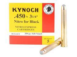 "Kynoch Ammunition 450 Black Powder Express 3-1/4"" 350 Grain Woodleigh Welded Core Soft Point Box of 5"