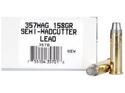 Ultramax Ammunition 357 Magnum 158 Grain Lead Semi-Wadcutter Box of 50