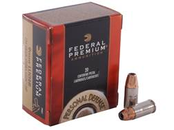 Federal Premium Personal Defense Ammunition 9mm Luger 124 Grain Hydra-Shok Jacketed Hollow Point Box of 20