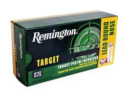 Remington Target Ammunition 38 S&W 146 Grain Lead Round Nose Box of 50