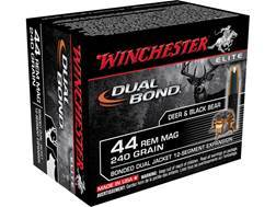 Winchester Supreme Elite Dual Bond Ammunition 44 Remington Magnum 240 Grain Jacketed Hollow Point