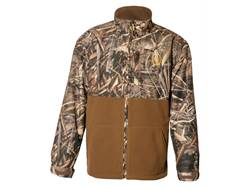 Hard Core Men's Backwater Full Zip Jacket Polyester Fleece Realtree Max-5 Camo