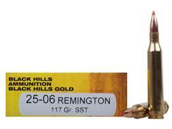 Black Hills Gold Ammunition 25-06 Remington 117 Grain Hornady SST Box of 20