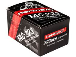Norma USA TAC Ammunition 223 Remington 55 Grain Full Metal Jacket Case of 1000 (20 Boxes of 50)