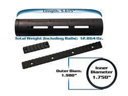 "Yankee Hill Machine Customizable Free Float Tube Handguard AR-15 ""Specter"" Mid Length Aluminum Matte"
