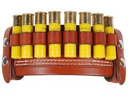 Van Horn Leather Belt Slide Shotshell Ammunition Carrier 8-Round 20 Gauge Leather Chestnut