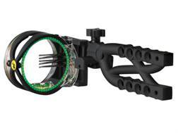 "Trophy Ridge Cypher 5 5-Pin Bow Sight .019"" Pin Diameter Ambidextrous Ballistic Copolymer Black"