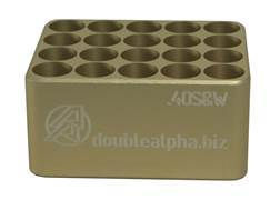 Double-Alpha Golden 20 Pocket Cartridge Gauge 40 S&W Anodized Aluminum