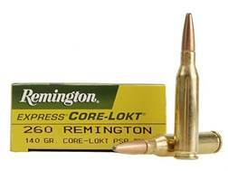 Remington Express Ammunition 260 Remington 140 Grain Core-Lokt Pointed Soft Point Box of 20