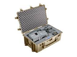 Pelican 1650 Accessories Case with Pre-Scored Foam Insert and Wheels Polymer