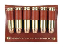 Hunter Cartridge Belt Slide Pistol Ammunition Carrier 500 S&W 6-Round Leather Brown