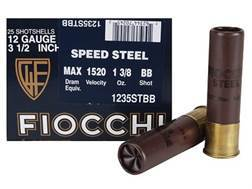 "Fiocchi Speed Steel Ammunition 12 Gauge 3-1/2"" 1-3/8 oz BB Non-Toxic Steel Shot"