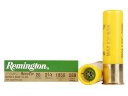 "Remington Premier Ammunition 20 Gauge 2-3/4"" 260 Grain AccuTip Bonded Sabot Slug with Power Port Tip Box of 5"