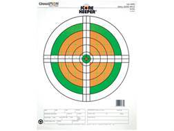 "Champion Score Keeper 100 Yard Small Bore Targets 14"" x 18"" Paper Fluorescent Orange/Green Bull Package of 12"